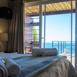 Room 2 Guest Room View of Balcony and Ocean Anstey's Beach